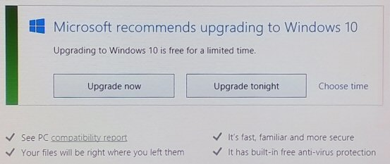 Windows 10 Upgrade Now?